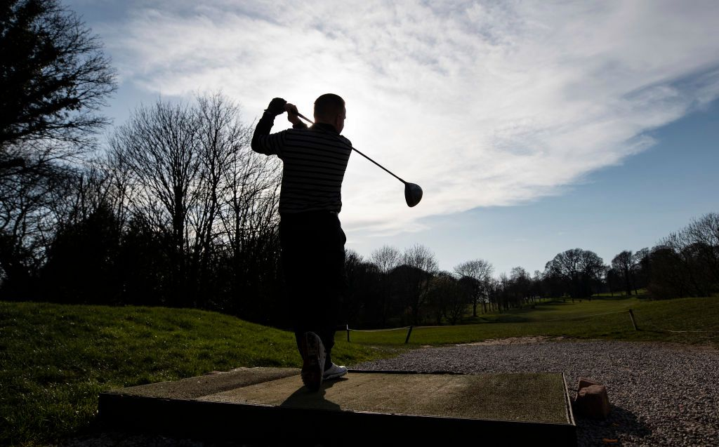 Golf is the one recreational sport that hasn't been asked to close its doors yet. (Peter Byrne/PA Images via Getty)