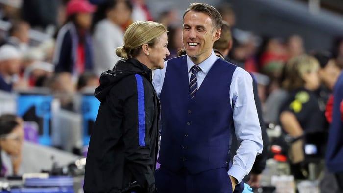 Jill Ellis y Phil Neville