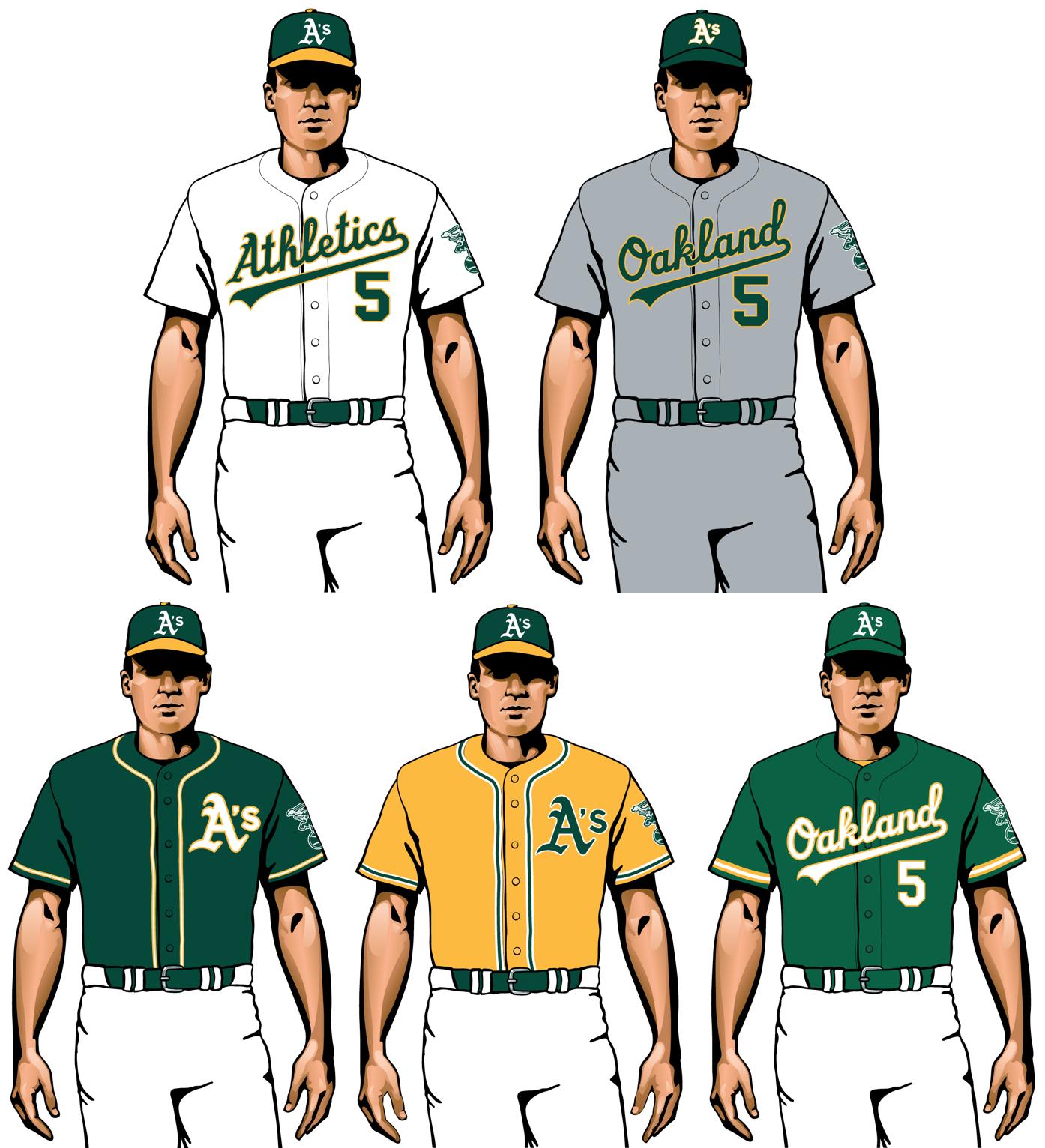 uniformes 2020 de Oakland a