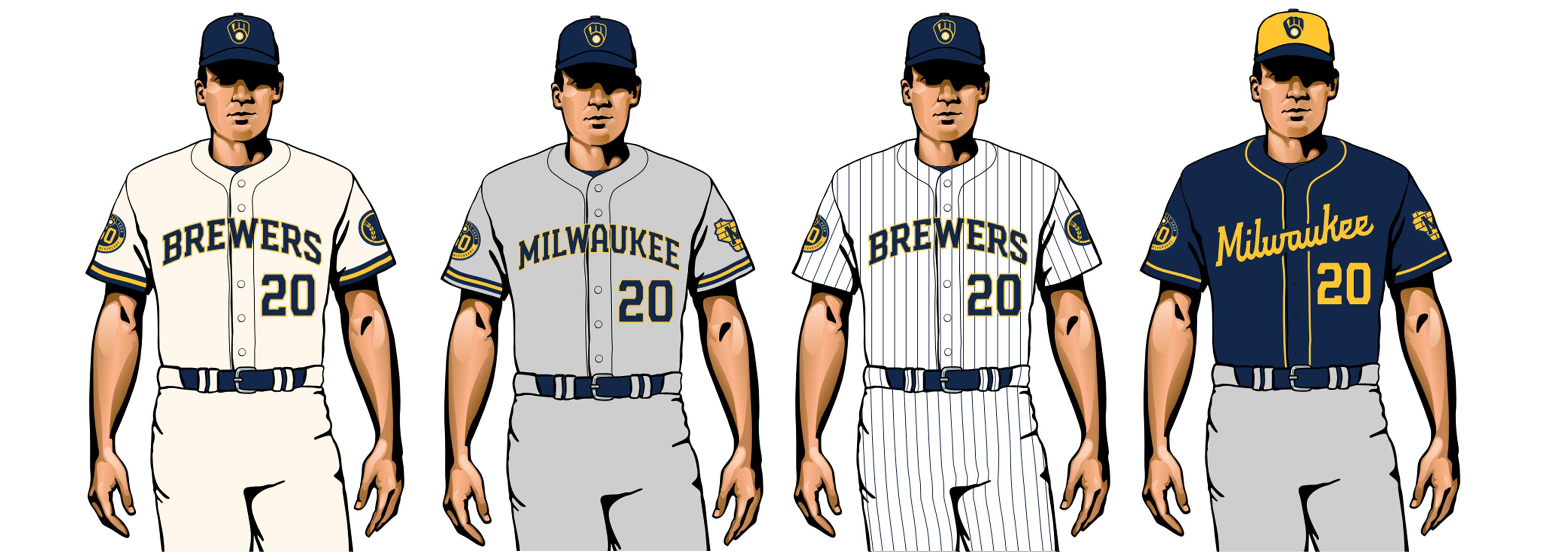 milwaukee brewers 2020 uniformes