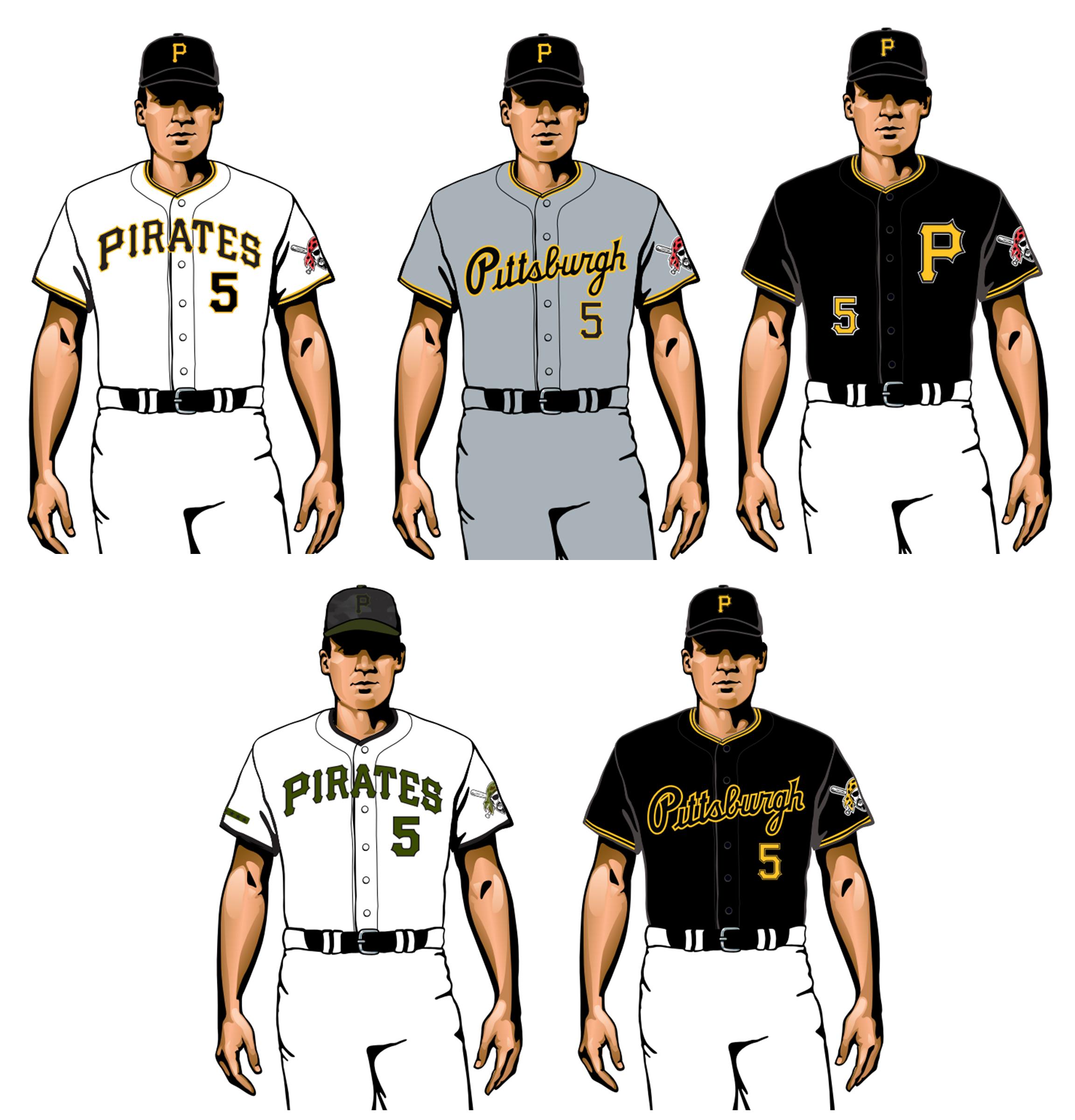 piratas de pittsburgh 2020 uniformes
