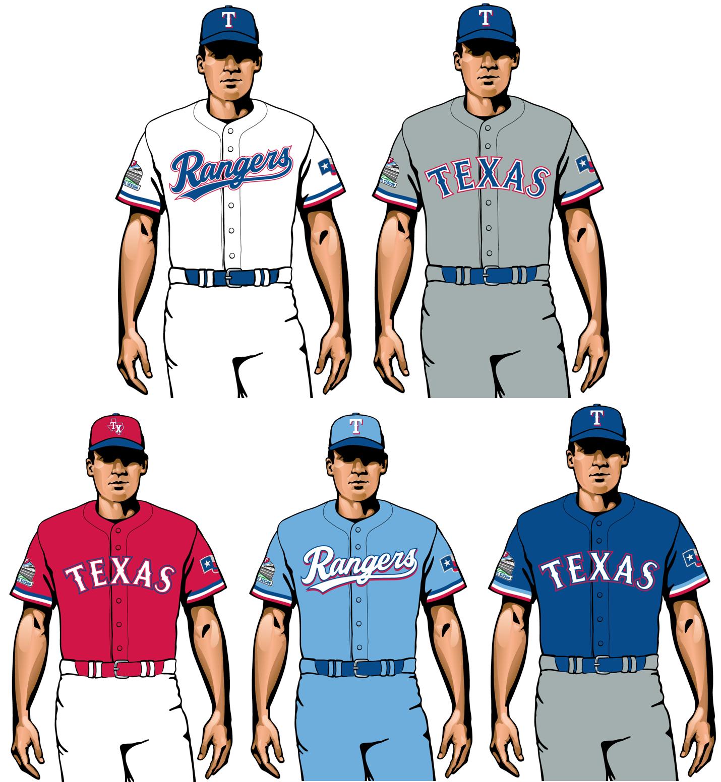 uniformes de texas rangers 2020