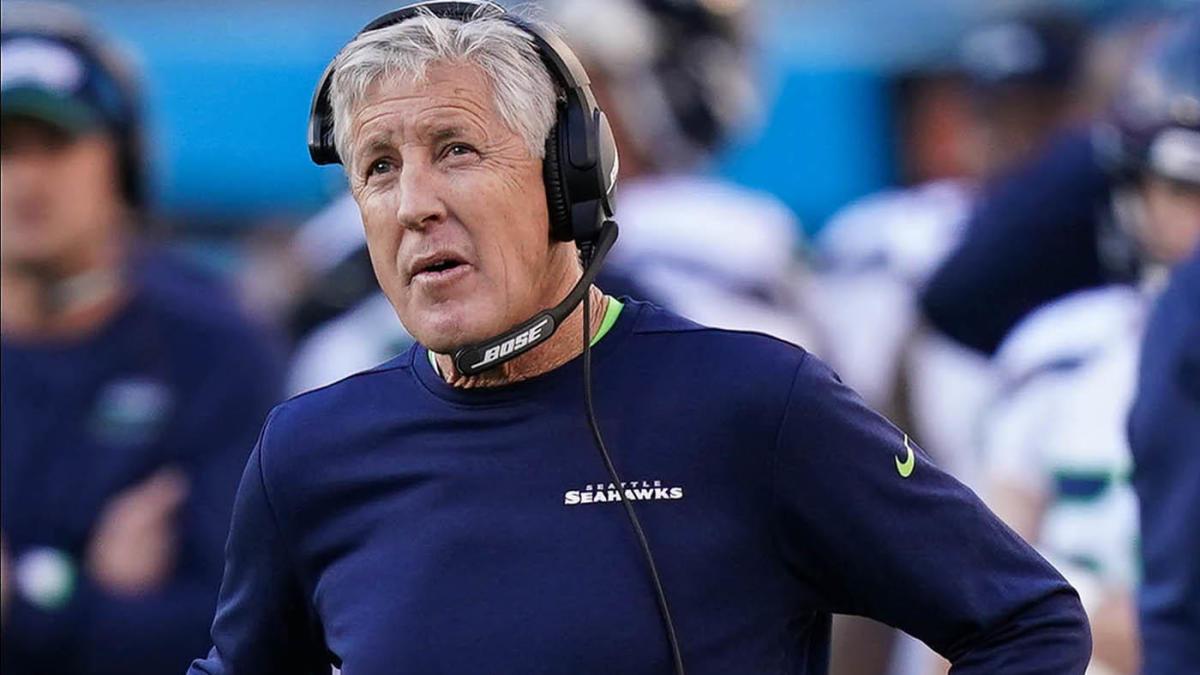 Pete Carroll enfrentando la derrota del Super Bowl